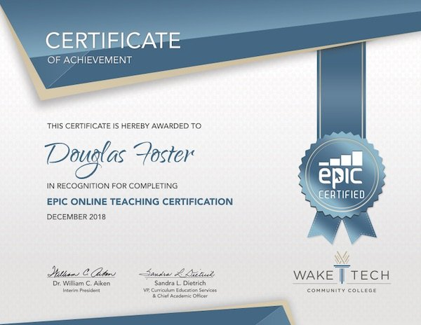 EPIC Online Teaching Certificate
