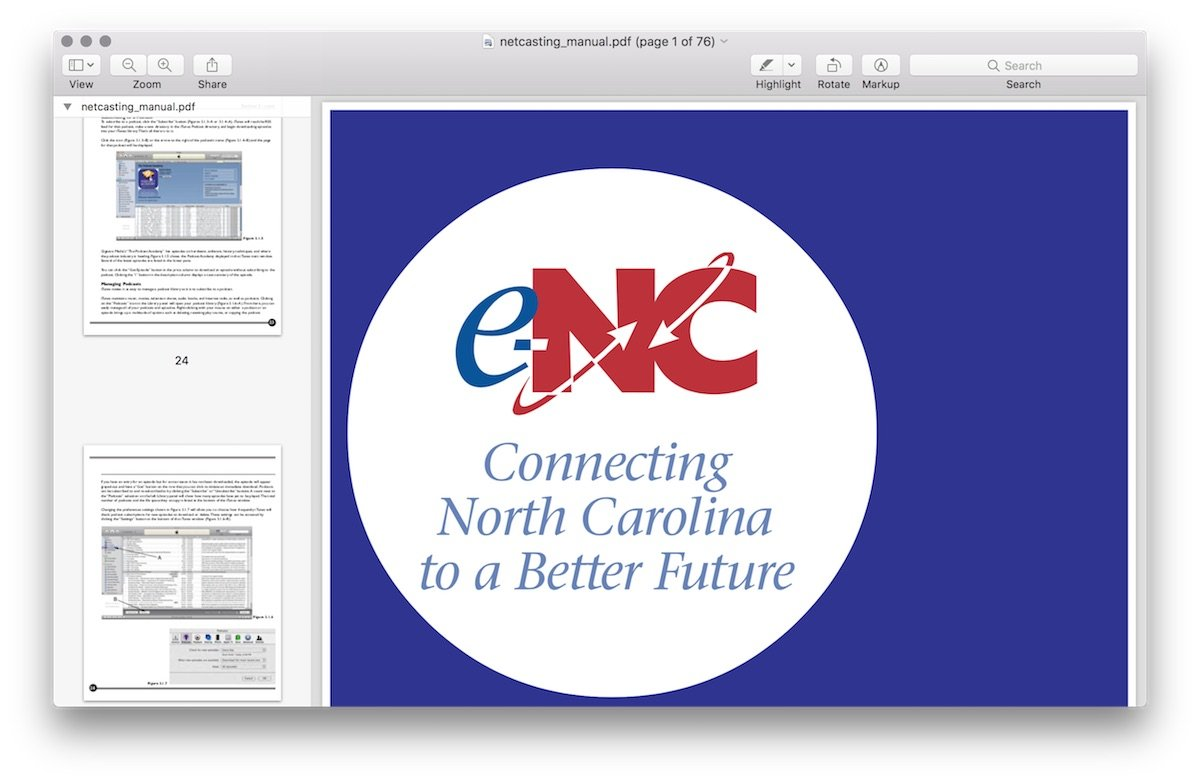 eNC netcasting manual