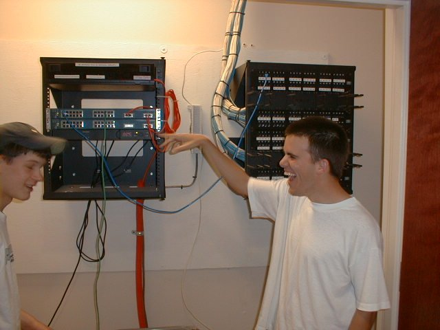 ADHS CNA Colonial Baptist - installing the LAN in the closets