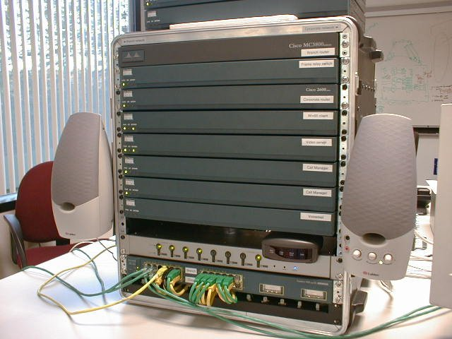 Cisco - AVVID - rack, front